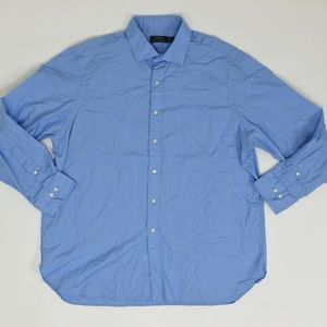 Ralph Lauren Big & Tall 18 Blue   Button Down Cott